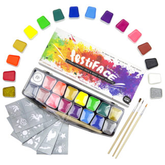 14 Color Complete Face Painting Kit