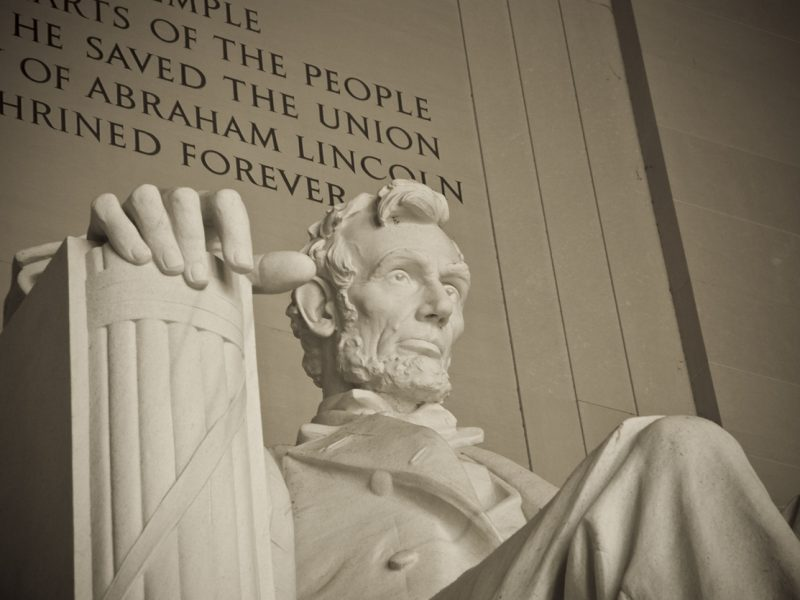Close up of the Lincoln Statue, D.C.